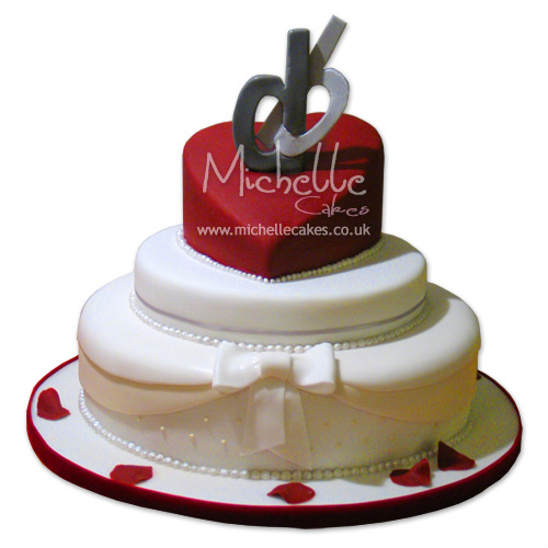 Heart Wedding Cake Red Heart Cake 6heart 810round